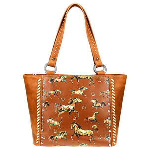 Horse & Horseshoe Themed Concealed Carry Tote Bag MW843G-8317