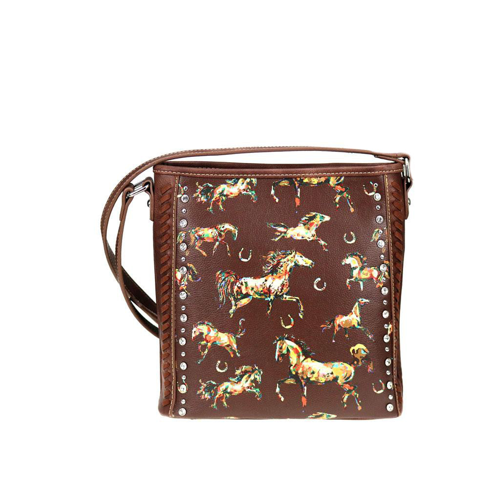 Horse & Horseshoe Themed Concealed Carry Crossbody Purse MW843G-9360