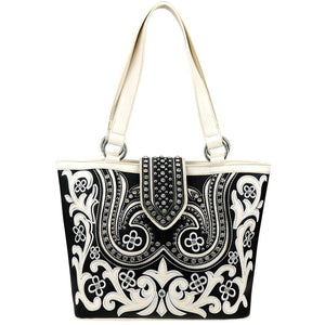 Floral Cut-Out Concealed Carry Tote Bag MW844G-8317