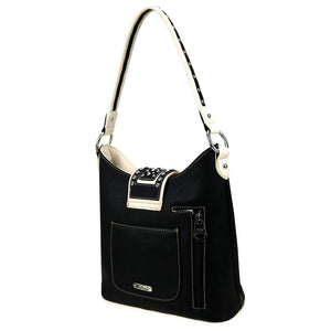 Floral Cut-Out Concealed Carry Hobo Purse MW844G-918