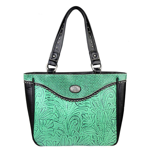 TR26G-L8317 Trinity Ranch Tooled Design Concealed Handgun Collection Handbag - carriesherself.com