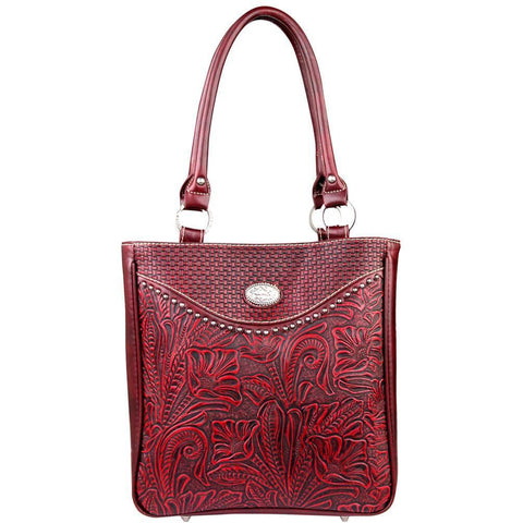 TR26G-L8561 Trinity Ranch Tooled Design Concealed Handgun Collection Handbag - carriesherself.com