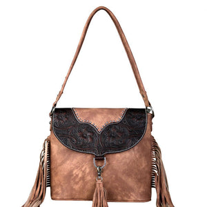 TR64G-916 Trinity Ranch Fringe Collection Concealed Carry Hobo - carriesherself.com