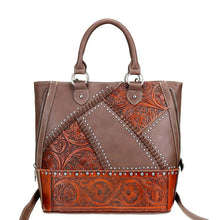 Authentic Leather-Tooled Concealed Carry Backpack Trinity Ranch - carriesherself.com