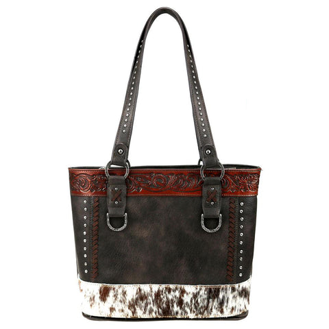 Cowhide Leather Tooled Trinity Ranch Concealed Carry Tote TR84G-8317
