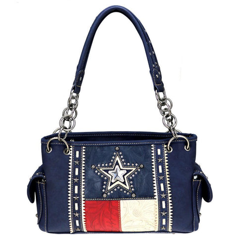 TX07G-8085 Montana West Texas Pride Collection Concealed Carry Satchel - carriesherself.com