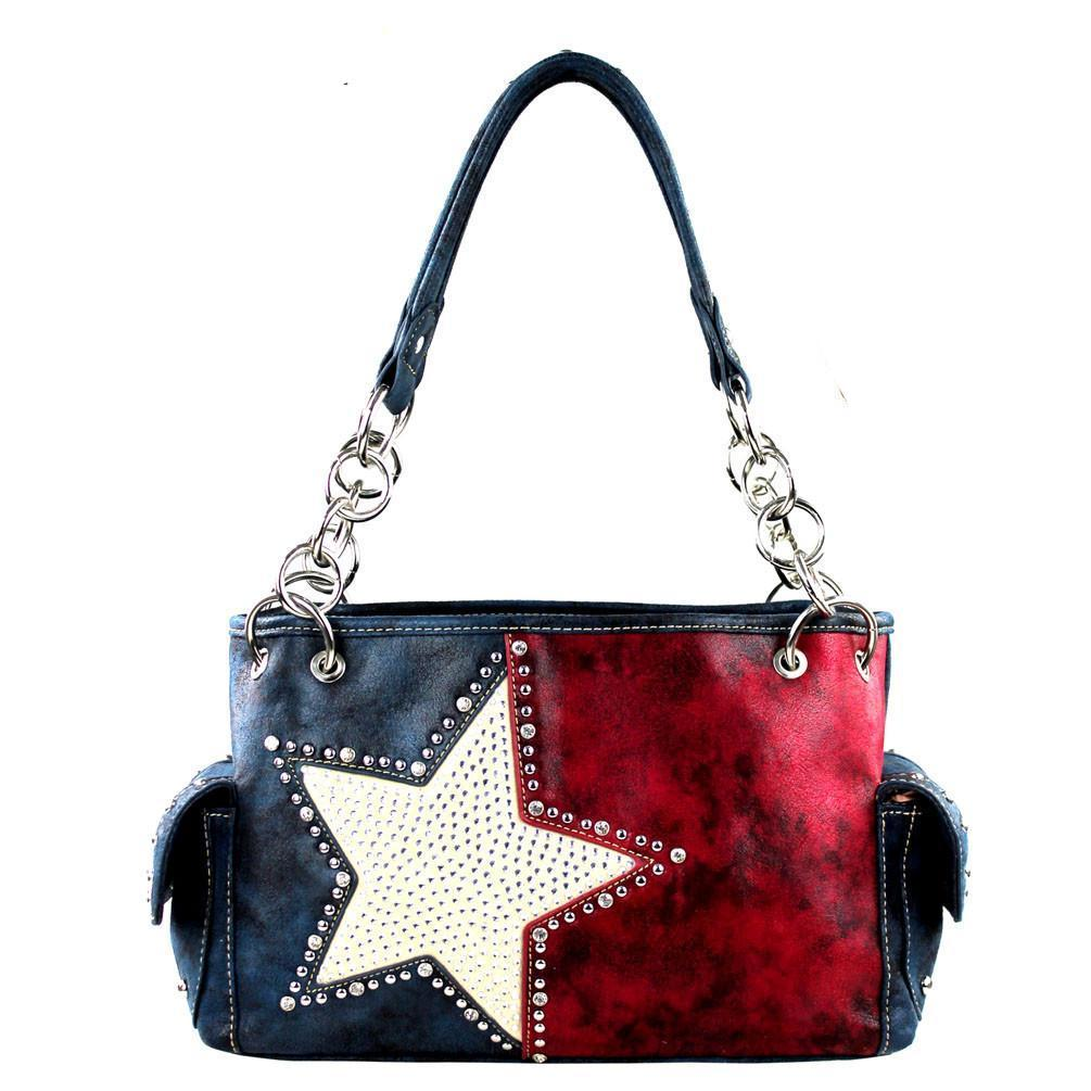 TX15G-8085 Montana West Texas Pride Concealed Handgun Collection Satchel - carriesherself.com