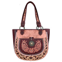 MW424G-8573 Montana West Concho Collection Concealed Handgun Tote - carriesherself.com