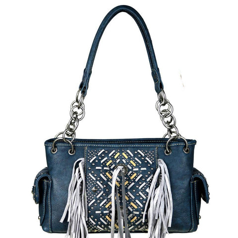 MW440G-8085 Montana West Fringe Collection Concealed Handgun Collection Satchel - carriesherself.com