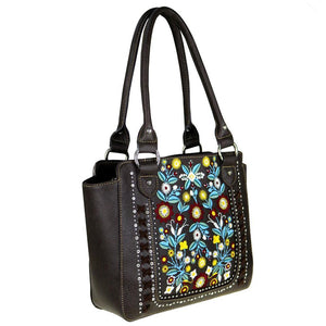 MW473G-8250 Montana West Floral Collection Concealed Handgun Trapezoid Tote - carriesherself.com