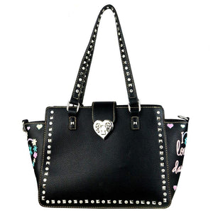 "MW506G-8250 Montana West Heart Collection ""I Love Daughter "" Concealed Handgun Trapezoid Tote - carriesherself.com"