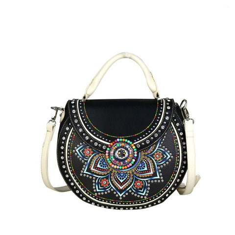 MW523G-8101  Montana West Concho Collection Concealed Handgun Half Moon Tote/Crossbody - carriesherself.com