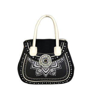 MW523G-8103  Montana West Concho Collection Concealed Handgun Satchel - carriesherself.com