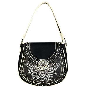Montana West Tribal Flower Concealed Carry Hobo Purse MW523G-8491 - carriesherself.com