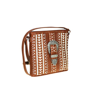 MW536G-8287 Montana West Buckle Collection Concealed Handgun Crossbody Bag - carriesherself.com