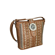 MW538G-8300 Montana West Concho Collection Concealed Handgun Messenger Bag - carriesherself.com