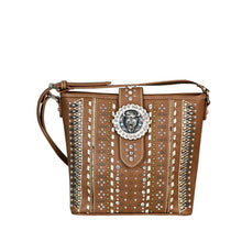Tribal Pattern Buffalo Head Concho Concealed Carry Messenger Bag MW538G-8300