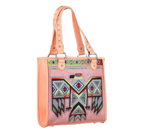 Montana West Aztec Pattern Thunderbird Concealed Carry Handbag MW311G-9112