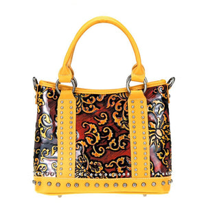 Floral Studded Montana West Concealed Carry Tote Bag MW824G-8567