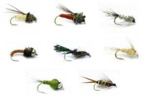 Feeder Creek Fly Fishing Assortment - 32 Nymph Flies - 8 Patterns - Bead Head and More - Feeder Creek