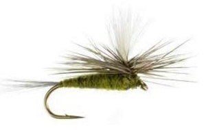 Feeder Creek Fly Fishing Trout Flies - BLUE WING OLIVE PARACHUTE SET - One Dozen Flies - 4 Sizes - Feeder Creek