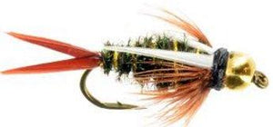 Feeder Creek Prince Bead Head Nymph - One Dozen Wet Flies - 3 Size Assortment 14,16,18 (4 of Each) - Feeder Creek