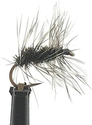 Feeder Creek Fly Fishing Trout Flies - Griffith's Gnat- 12 Dry Flies - Sizes 14-20 for Trout and Other Freshwater Fish (20)
