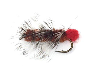 Feeder Creek WOOLY WORM BLACK / BROWN Wet Streamer Flies - Hand Tied Size 10 (6 of Each Size) - Feeder Creek