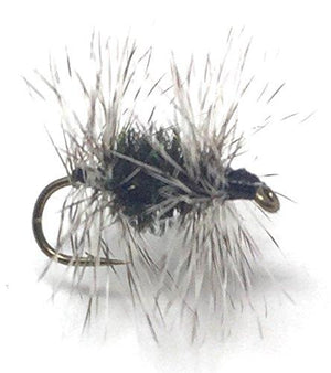 Feeder Creek Fly Fishing Trout Flies - GRIFFITH'S GNAT - 12 Flies - 3 Size Assortment 14, 16, 18 - Feeder Creek