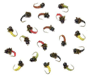 Bead Head Zebra Midge - 12 Wet Flies - Variety of Sizes and Colors