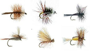 Feeder Creek Fly Fishing Assortment - One Dozen Flies in 6 Trout Crushing Patterns of Dry Flies Size 14 - Feeder Creek