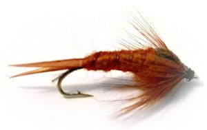 Fly Fishing Flies Assortment- Brown Stonefly Nymph - One Dozen - 4 Sizes - Feeder Creek