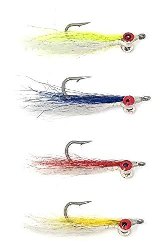 Fly Fishing Trout Flies - CLOUSER Minnow - Two Dozen  3 Size Assortment in 1/0, 2, and 4 - 4 Colors - Feeder Creek