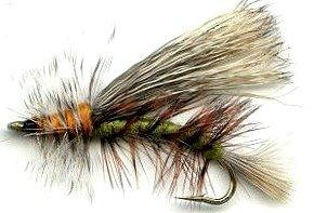 Fly Fishing Trout Flies - Stimulator Olive/Green Dry Fly - One Dozen - 4 Sizes 12,14,16,18 - Feeder Creek