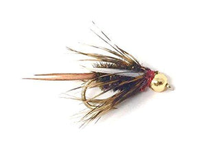 Fly Fishing Flies - BEAD HEAD KING PRINCE - One Dozen Wet Flies - 3 Sizes - Feeder Creek