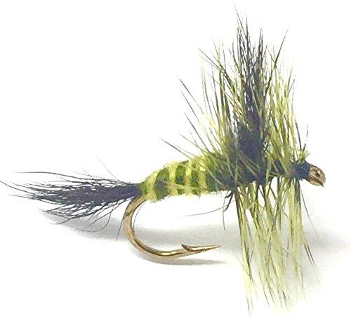 Green Drake Mayfly- 12 Dry Flies - Sizes 10-20