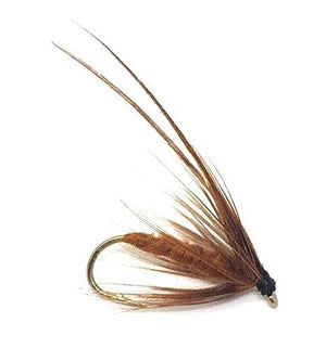 Feeder Creek Fly Fishing Trout Flies - Caddis Mayfly Brown Wet Fly Soft Hackle -Three Sizes 14,16,18 - Feeder Creek