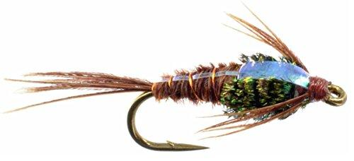 Feeder Creek Fly Flashback Pheasant Tail Nymph - Hand Tied Sizes 12,14,16,18 (3 of Each Size) - Feeder Creek