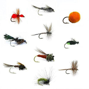 Feeder Creek Fly Fishing Flies Set of 30 for Trout and Freshwater Fish - 10 Patterns - Feeder Creek