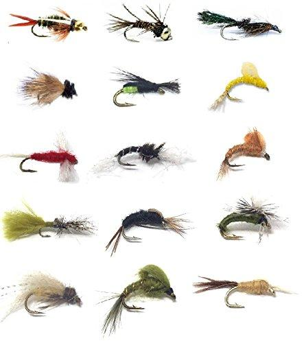 Feeder Creek Fly Fishing Assortment - 32 Dry and Wet Flies in 16 Patterns (2 of Each Pattern) - Feeder Creek