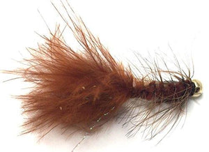Bead Head Wooly Bugger Fly Fishing Flies for Trout and Other Freshwater Fish - 36 Wet Flies - 3 Size Assortment 6, 8, 10 (3 of Each Size) - Black, Brown, White, and Olive
