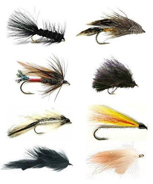 Feeder Creek Fly Fishing Lures - 48 Streamer Flies - 8 Patterns in 3 Sizes (2 of Each Size) - Feeder Creek