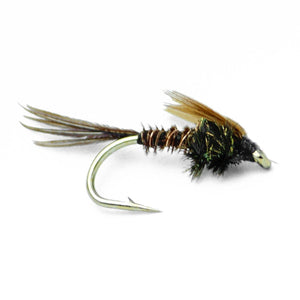 Pheasant Tail Nymph Fly Fishing Trout Flies - One Dozen - 4 Sizes 12,14,16,18 - Feeder Creek