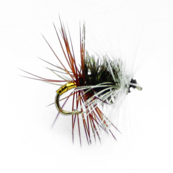 Feeder Creek RENEGADE DRY FLIES Sizes 12,14,16, 18 (3 of Each Size) - Feeder Creek