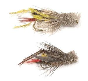 Dave's Hopper - 12 Wet Flies Size 10 and 12 (6 of Each Size)