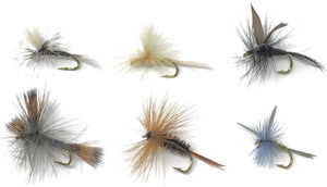 Fly Fishing Flies Assortment - 18 TROUT CRUSHING Dry Mayflies - 6 Patterns - Size 14 - Feeder Creek