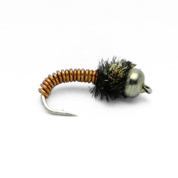 Feeder Creek Bead Head Brassie Nymph Flies - One Dozen - 4 Size Assortment 12,14,16,18 (3 of Each) - Feeder Creek