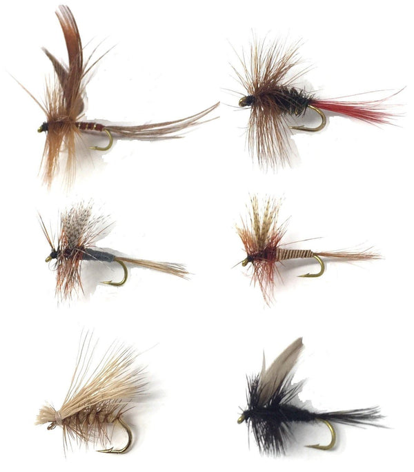 Feeder Creek Fly Fishing Trout Flies - POPULAR MAYFLIES - 18 Flies - 6 PATTERNS - Feeder Creek