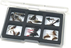 Feeder Creek Fly Fishing Trout Flies - Classic Nymph Assortment - 16 Wet Flies with Magnetic Fly Box - Sizes 12-14