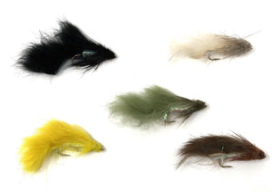 Feeder Creek Fly Fishing Trout Flies - ZONKER ASSORTMENT - 20 Flies - 2 Size Assortment - Feeder Creek